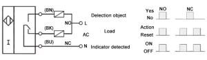 Proximity Sensor, Inductive, M18, 3 Wire, 120V   ATO