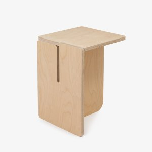 les optimistes editions tabouret plis bois bouleau multiplis contemporain