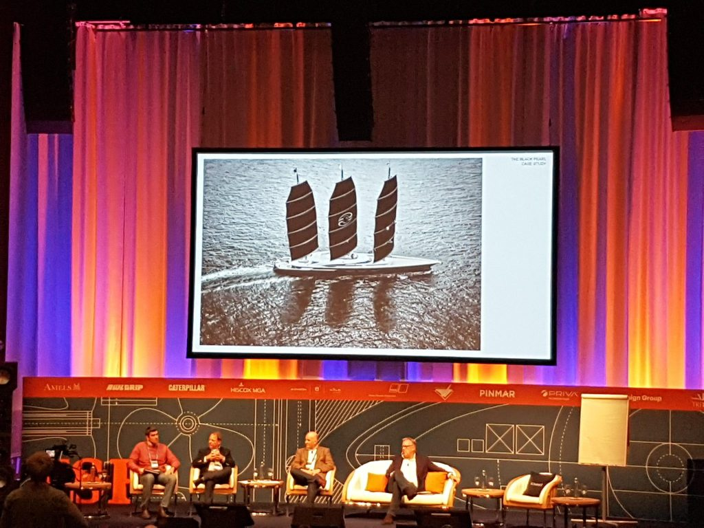 The Black Pearl, one of the cutting edge yachts worldwide is analyzed in the Superyacht Forum in Amsterdam