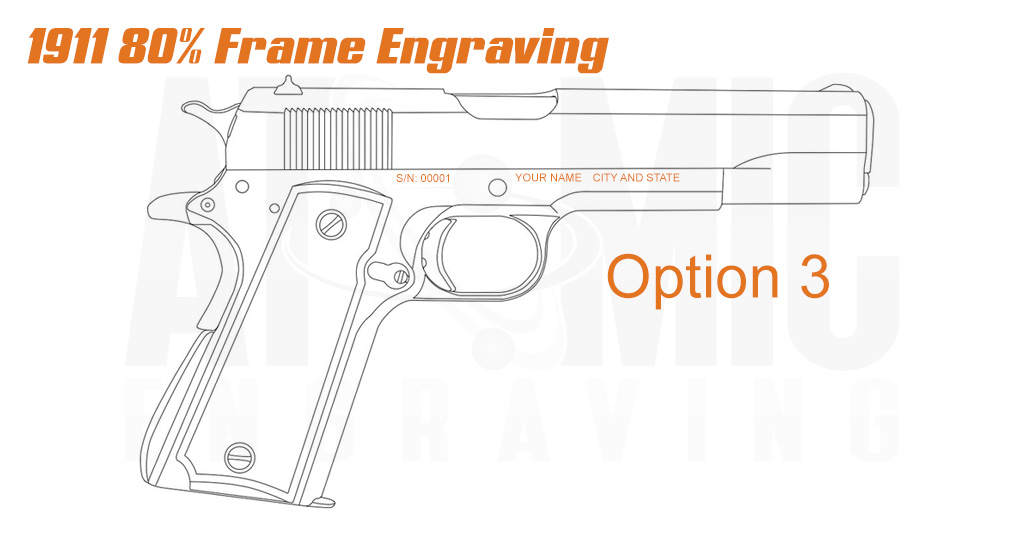 80% 1911 Ca compliance engraving services