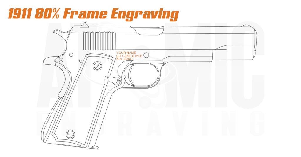 California compliance engraving for 1911 80% frames.