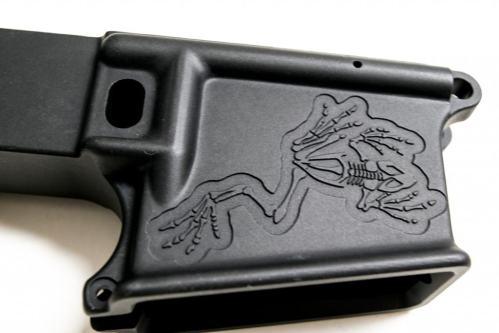 Bone Frog 80% AR15 Custom Engraved lower