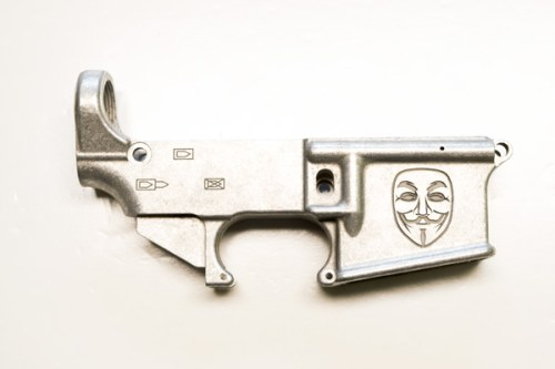 Guy Fawkes Mask Custom Engraved AR15 80% Lower