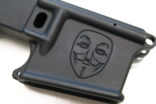80% AR15 engraved lower Guy Fawkes