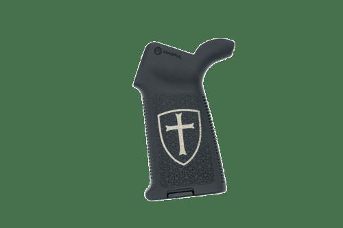 Crusader Engraved Magpul MOE AR15 Pistol Grip