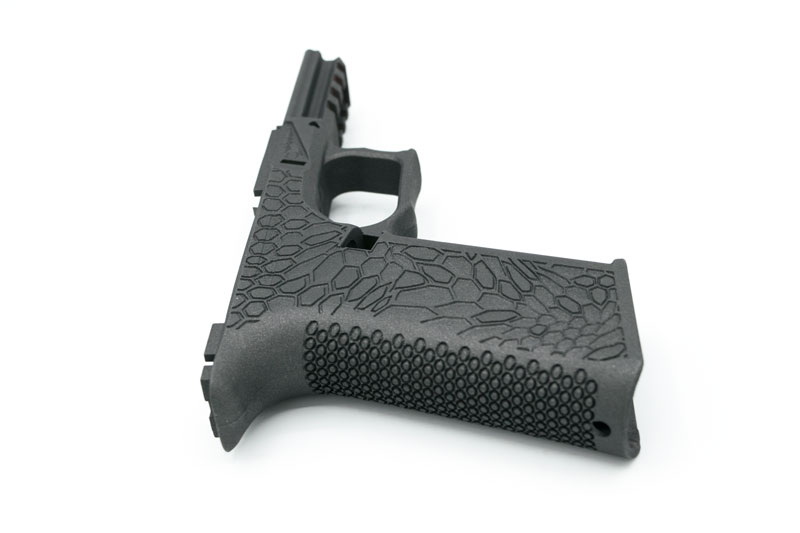 80% PF940V2 Custom Stippled Kryptek Glock 17/22 Pistol Frame - Cobalt  Cerakoted