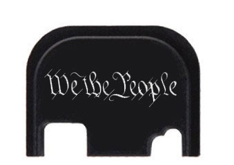 We The People engraved Glock slide cover plate