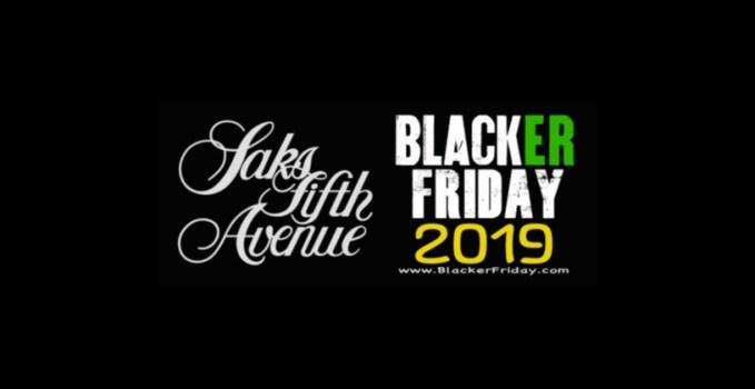 Saks Fifth Avenue Blacker Friday