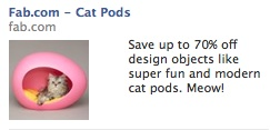 Cat Pod Facebook ad