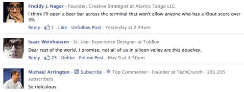 Comments in TechCrunch on Cathay Pacific Klout Promotion
