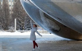 Katharina Heuermann at the Chicago Bean