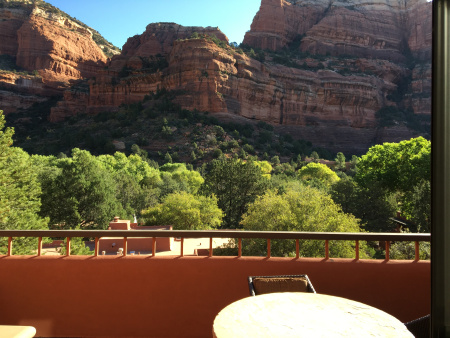 View from room at Enchanted Resort, Sedona, Arizona