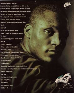 Nike Barry Sanders Ad