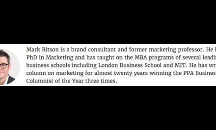 Mark Ritson in MarketingWeek