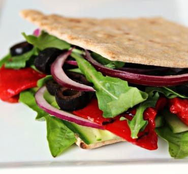 Veggie and Hummus Lavash Sandwich