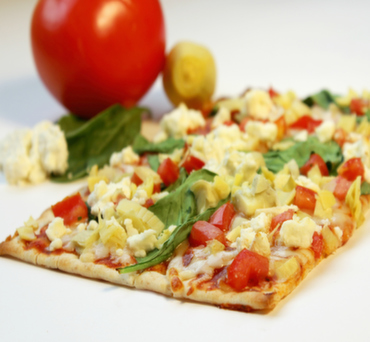 Garden Delight Lavash Pizza