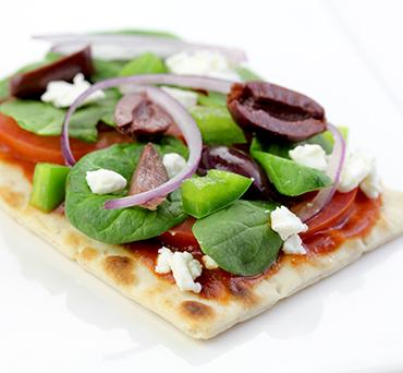 Greek Salad Lavash Pizza