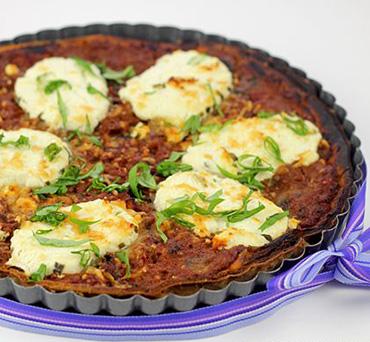 Mushroom Cheese Lavash Tart