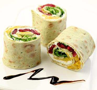 Summer Salad Lavash Wrap