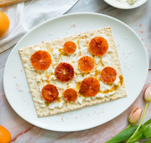 Blood Orange and Ricotta Lavash