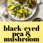 black eyed pea mushroom naan