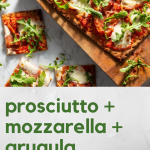 prosciutto mozzarella lavash pizza
