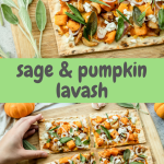 pumpkin sage lavash