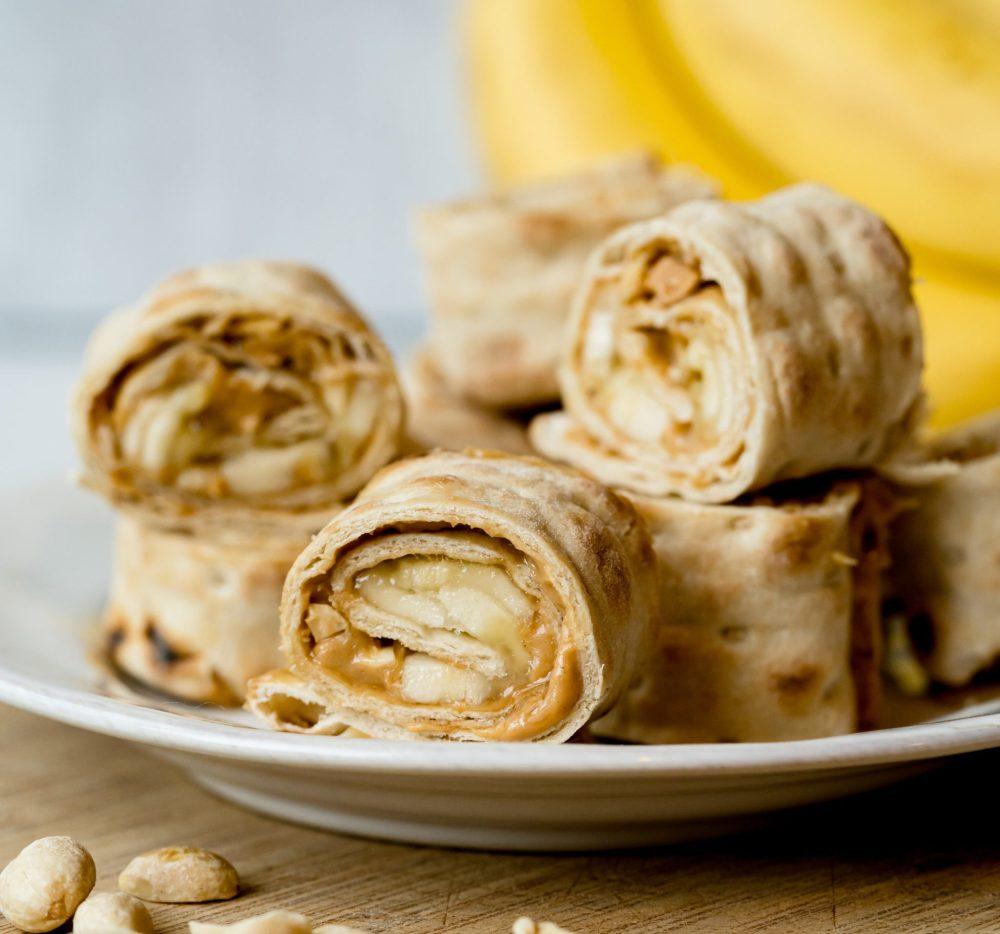 Mini Lavash Nut Butter Banana Wrap