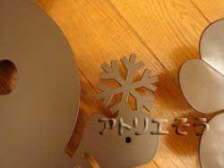 """アルミ製妻飾り雪の結晶+四葉のクローバー+雪だるま妻飾り"""""""""""
