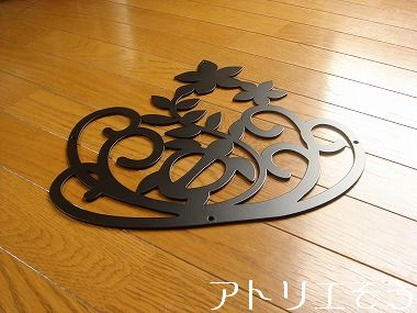 ホヌ+プルメリア玄関ドア飾り。