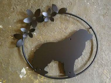 404:グレートピレニーズ犬妻飾り ステンレス製妻飾り