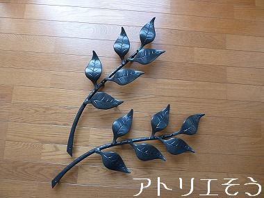 アルミ製妻飾りGタイプ 。葉の妻飾り。錆に強いアルミ製妻飾り。