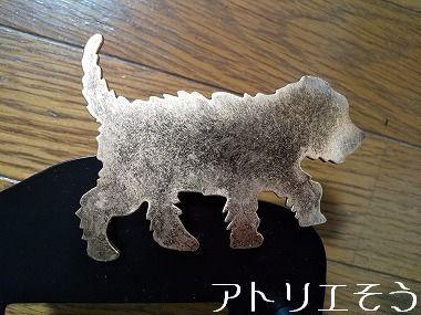 11:犬とマーガレットインターホンカバー 錆に強いステンレス製インターホンカバー