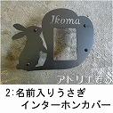 名前入りうさぎインターホンカバー 。錆に強いステンレス製インターホンカバー