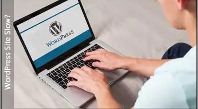 Image of a laptop displaying wordpress