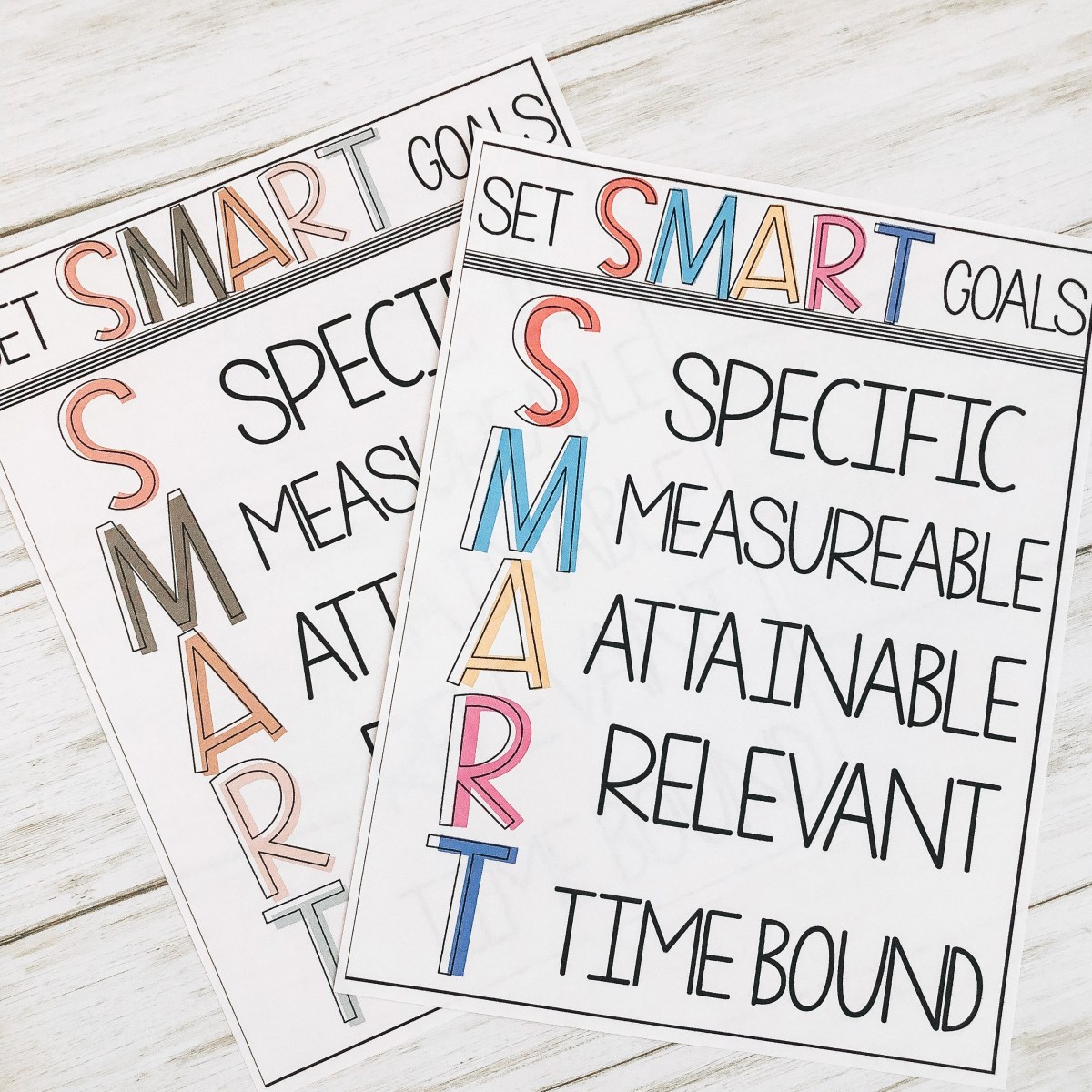 SMART Goal Setting with Students Posters