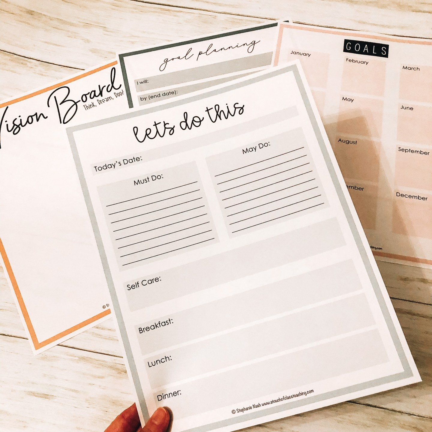 Free Goal Setting Forms