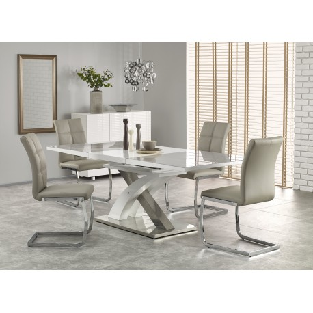 table a manger design laquee extensible atout mobilier