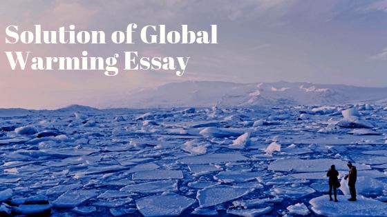 School essay on global warming