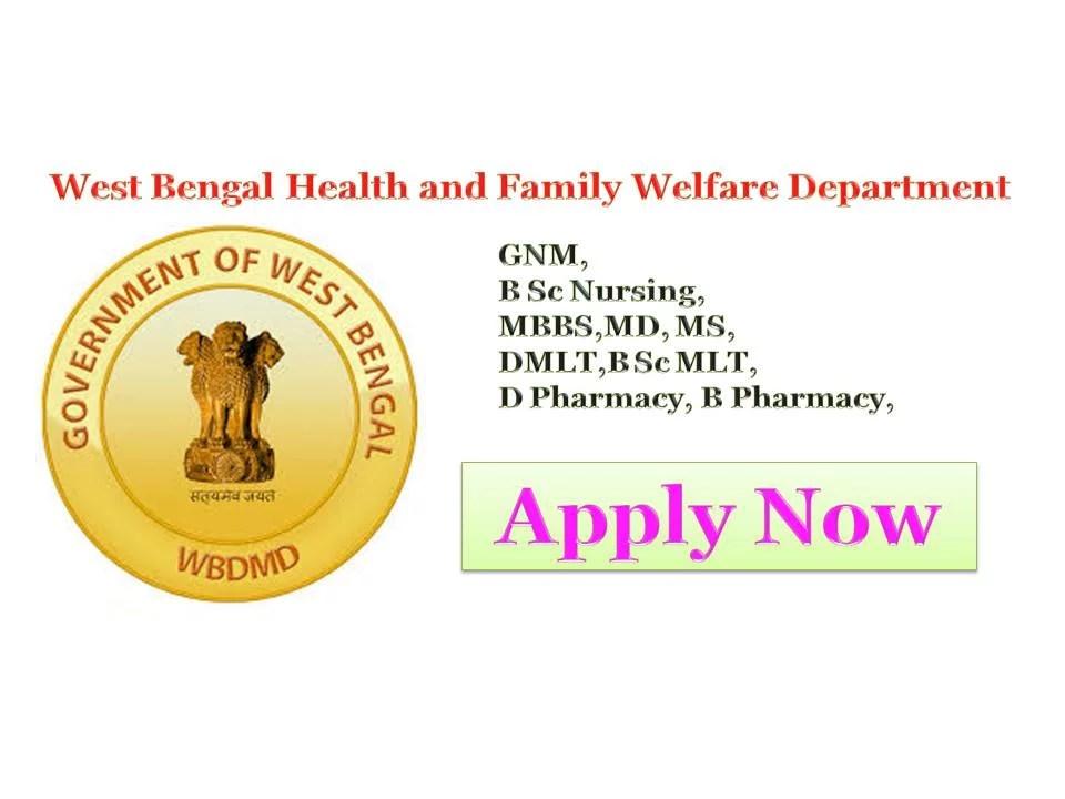 NHM West Bengal Govt Jobs
