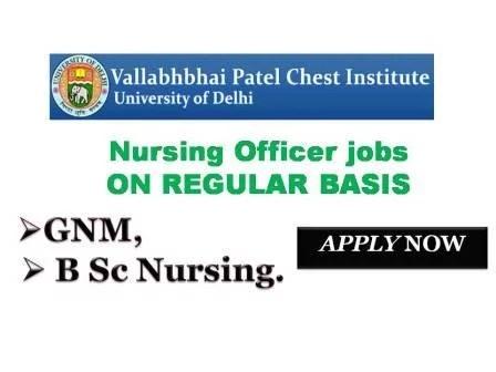 VPCI Nursing Recruitment for GNM B Sc Nurses in Delhi