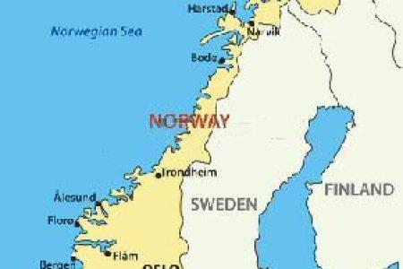 Of Sweden Norway And Denmark Map Maps Scandinavia Finland Belarus Estonia Printable Countries Coloring