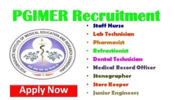 PGIMER Nursing Recruitment 2018