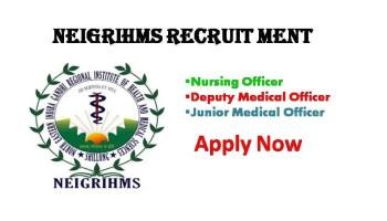 NEIGRIHMS Recruitment 2018