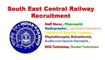 South East Central Railway Staff Nurse Recruitment