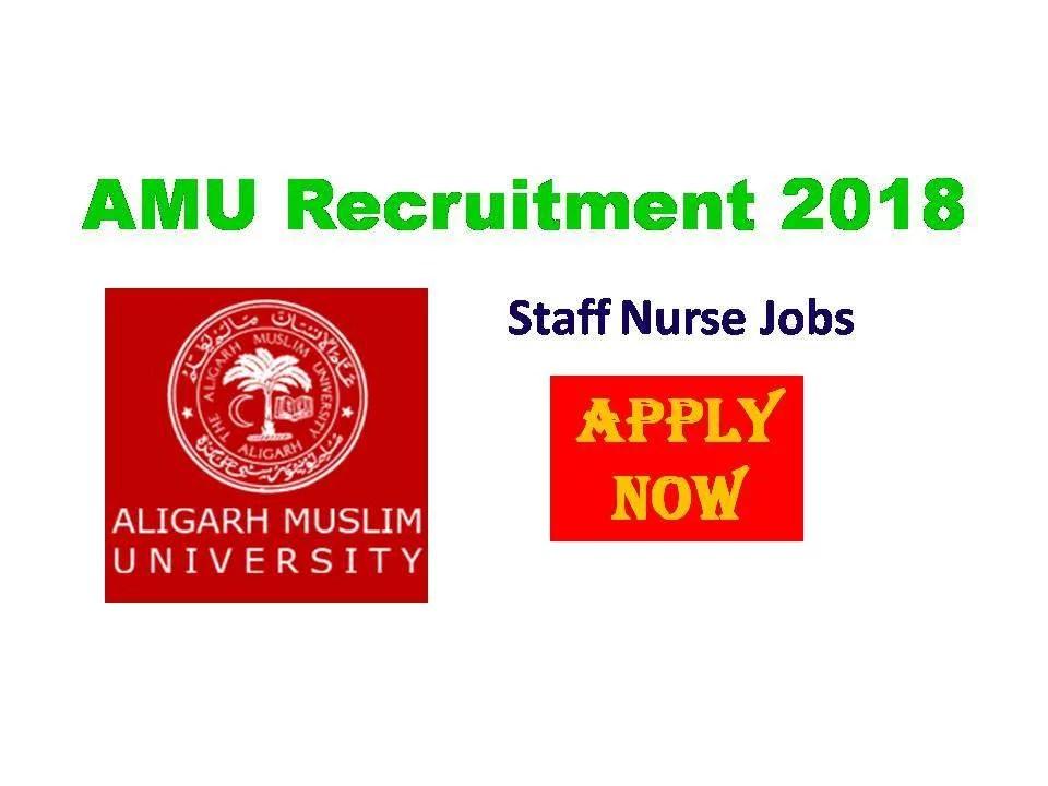 Aligarh Muslim University Nursing Recruitment