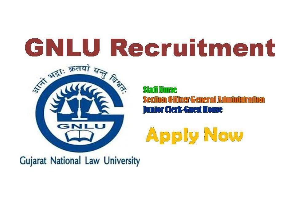 GNLU Staff Nurse Recruitment