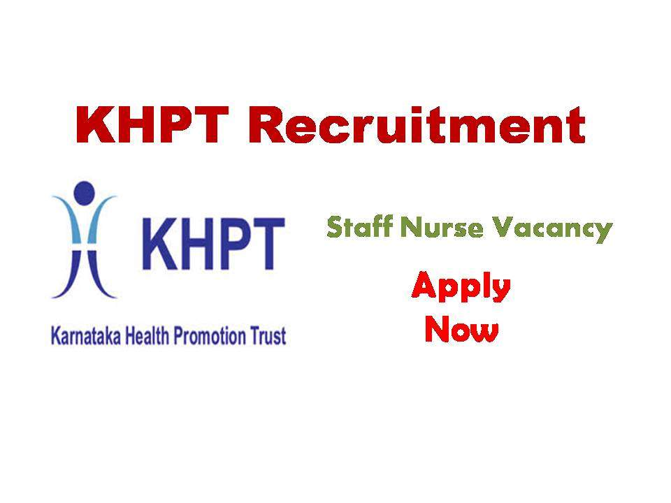 KHPT Karnataka Staff Nurse Vacancy