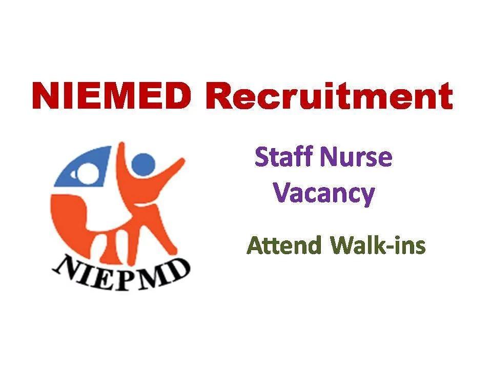 NIEPMD Recruitment 2019 in Tamilnadu