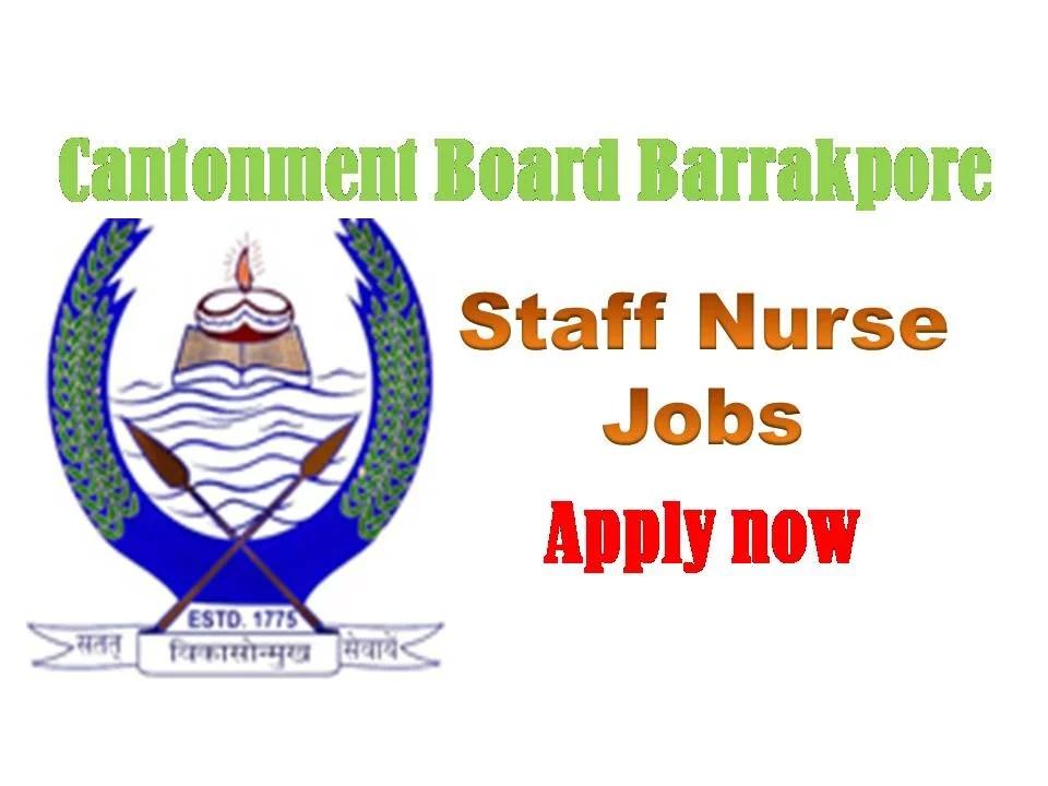 Cantonment board Barrakpore recruitment